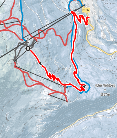Map / Toboggan Run Stiegele - Sölden