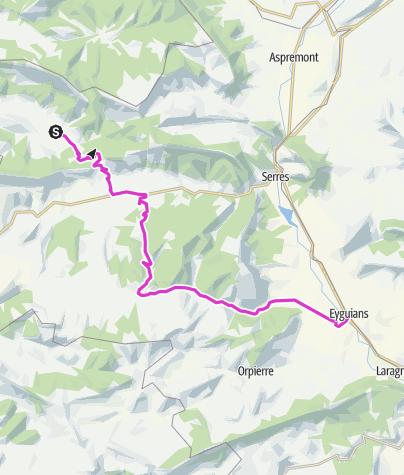 מפה / P'tites Routes Du Soleil - Les barronies du Buëch (A13)