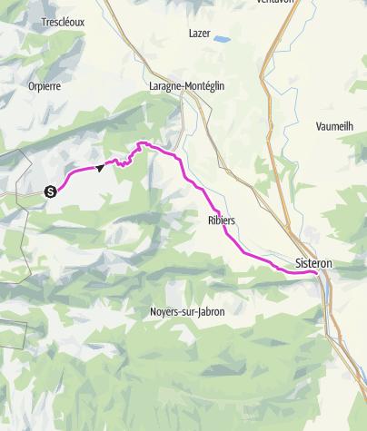 Map / P'tites Routes Du Soleil - Les gorges de la Méouge à vélo (A15)