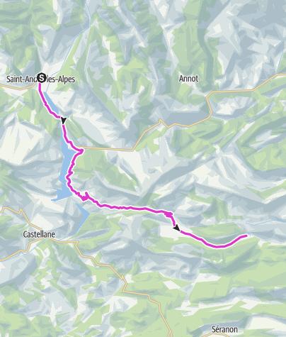 地图 / P'tites Routes Du Soleil - Les balcons des lacs de Chaudanne et de Castillon (A19)