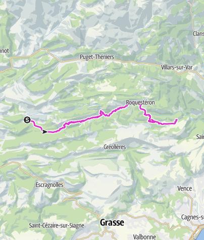 Map / P'tites Routes Du Soleil - Les Préalpes d'Azur à vélo (A20)