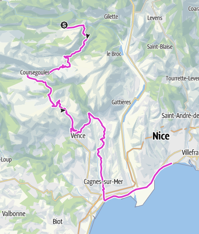 Map / P'tites Routes Du Soleil - Nice : Terminus en bord de Méditerranée (A21)