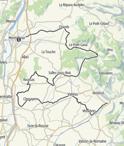 Map / Les Routes de la Lavande : Between the Drôme Provençale and Enclave des Papes
