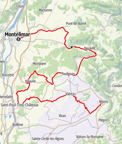 Map / Les Routes de la Lavande : Between the Drôme Provençale and Enclave des Papes