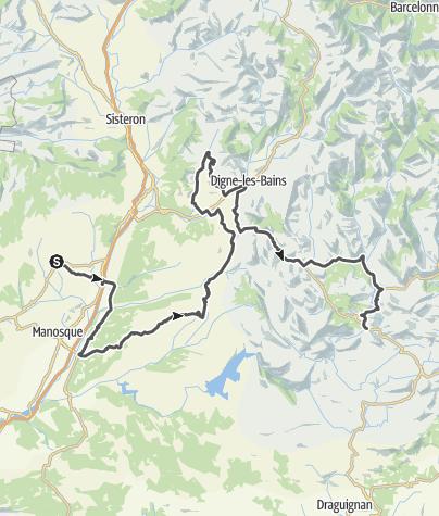 Map / Les Routes de la Lavande : Haute-Provence and Verdon