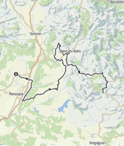 Carte / Les Routes de la Lavande : Haute-Provence et Verdon