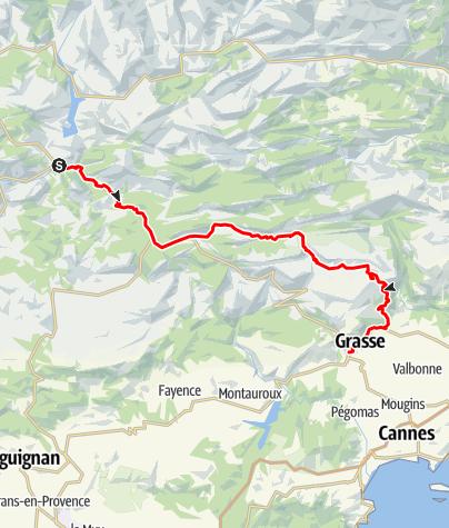 Map / Les Routes de la Lavande : The Préalpes d'Azur