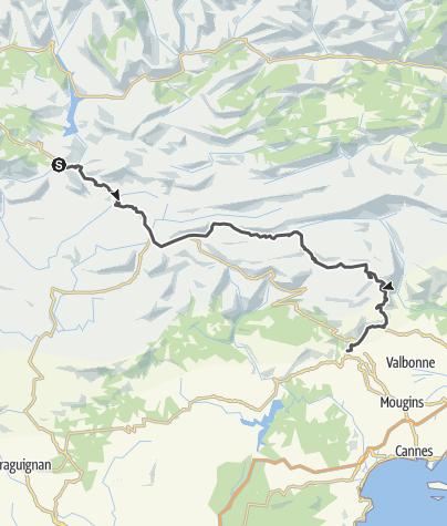 Carte / Les Routes de la Lavande : Les Préalpes d'Azur