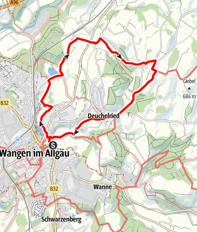 Karte / Nr. 4: Hammerweiher, Zurwieser Höhe + Deuchelried