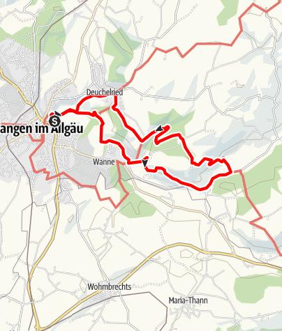 Karte / Nr. 5: Über Durrenberg, Halden, Deuchelried