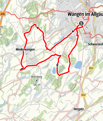 """Karte / Wanderrundweg 8: """"Über den Elitzer See nach Schönbühl"""""""