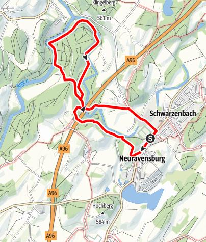 """Karte / Wanderrundweg 10: """"Neuravensburg und Argenzusammenfluss"""""""