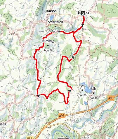 Karte / Nr. 15: Von Leupolz rund ums Karbachtal