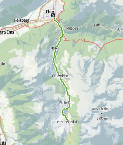 Karte / 64.01 Chur - Lenzerheide, ViaSett