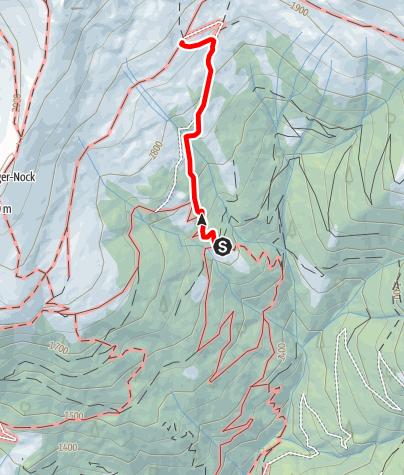 Karte / Zustieg von der Schwaigerhütte zur Millstätter Hütte