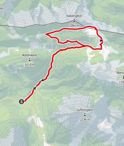 Karte / Zur Gufferthütte über Geo-Pfad und Naturatrail