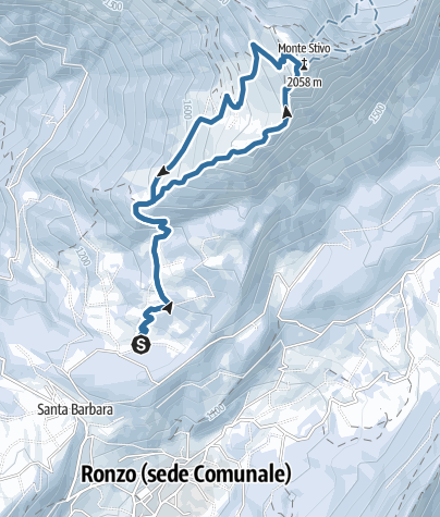 Map / Snowshoeing on Monte Stivo