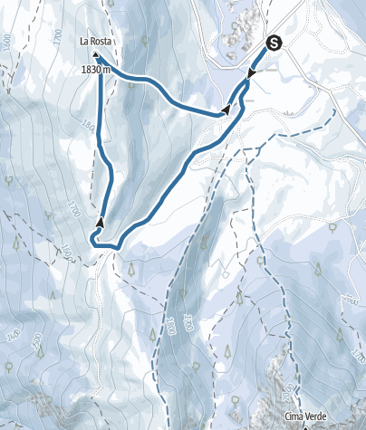 Map / The Viote del Bondone with your snowshoes