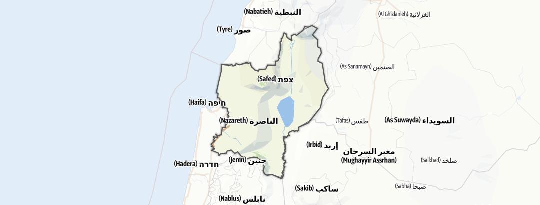 Kartta / Museot kohteessa Northern District