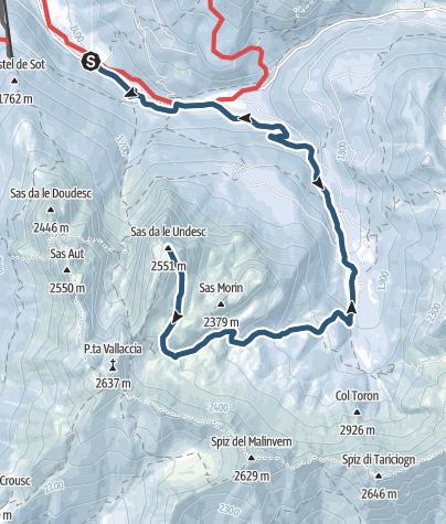 Map / Scialpinismo a Cima Undici - Val dei Monzoni