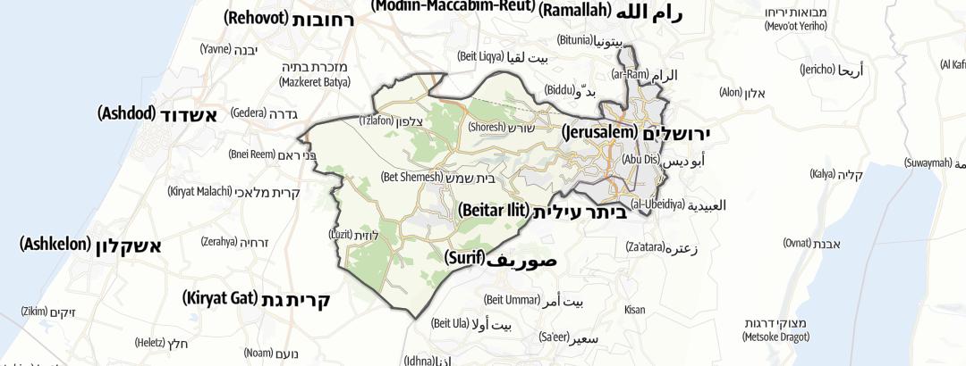 Kartta / Kulttuuri kohteessa Jerusalem