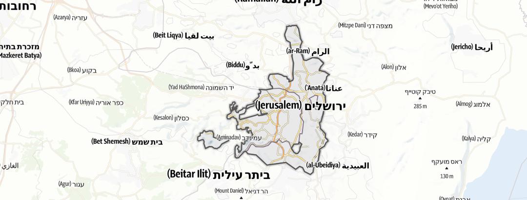 Kartta / Kulttuuri kohteessa Yerushalayim (Jerusalem)