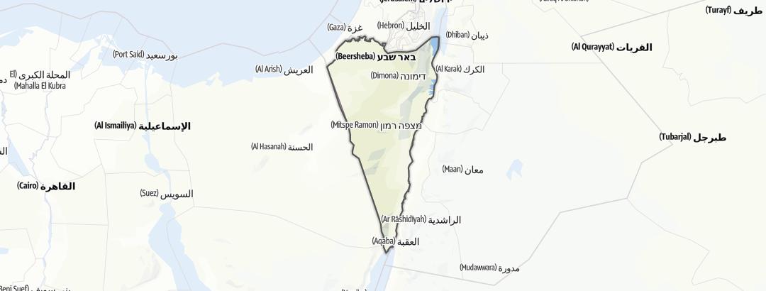 Kart / Museum i Be'er Sheva