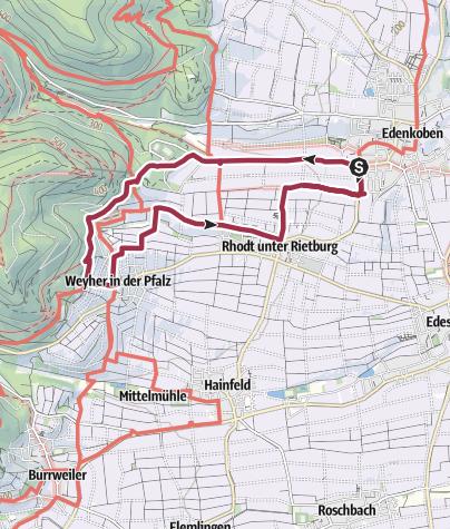 Karte / Wanderfit - Pfälzer Mandelpfad Runde