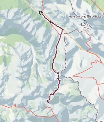Map / GR®5 Alpes - De Larche à Bousiéyas (28)