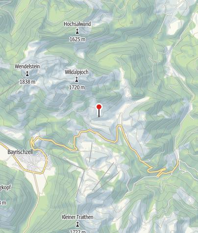 Karte / Kelheimer-Hütte