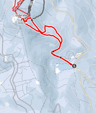 Karte / Großer Arber vom Gr. Arbersee