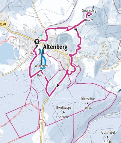 Map / Winterwanderung zum Geisingberg