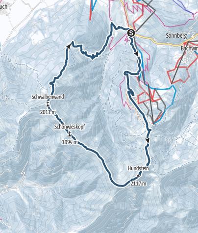 Karte / Schwalbenwand-Hundstein-Runde