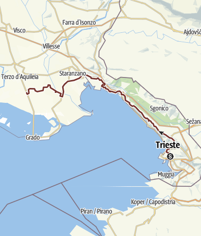 Karte / Verbindung Trieste - Acquileia