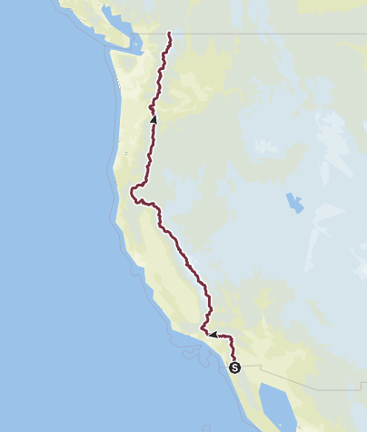 Karte / Pacific Crest Trail (Triple Crown of Hiking)