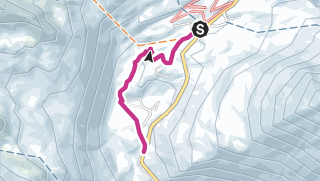 Carte / Randonnée hivernale au col de Simplon