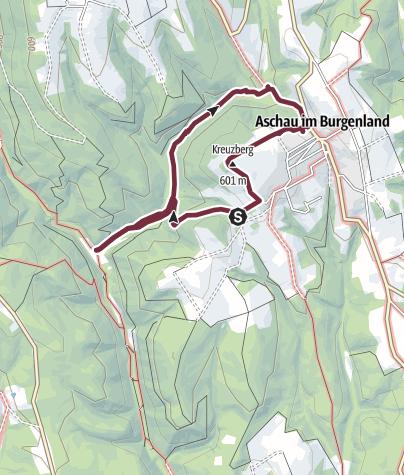 """Karte / """"alpannonia""""  Aschau-Runde"""