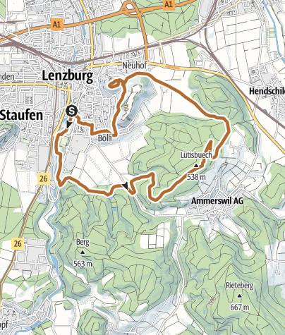 Carte / Walking Trail 1 Lenzburg