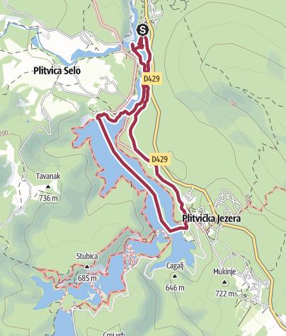 Nationalpark Plitvicer Seen Karte.Wanderung Plitvicer Seen Programm B Wanderung