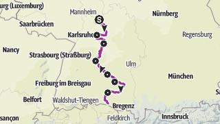 Karte / Mittlere Route (Deutsche Fachwerkstraße)