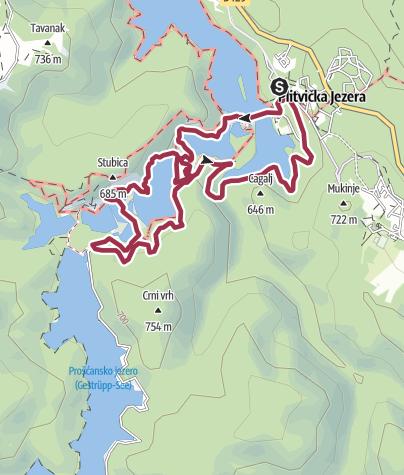 Nationalpark Plitvicer Seen Karte.Wanderung Plitvicer Seen Programm E Wanderung