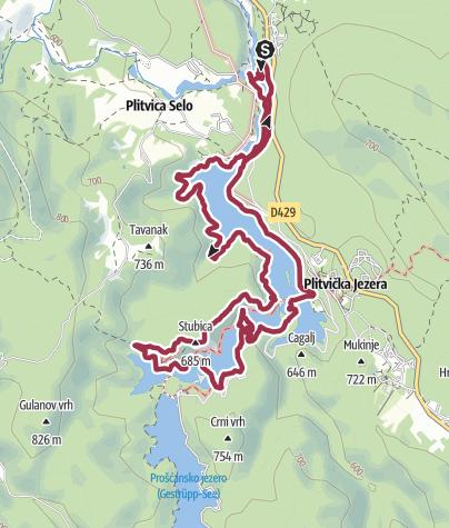 Nationalpark Plitvicer Seen Karte.Wanderung Plitvicer Seen Programm K Wanderung