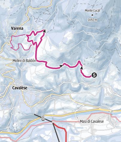 Cartina / Passeggiata da Maso Spianez a Varena
