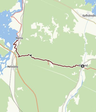 Map / Vikingaleden etapp 11, Västland till Marma (motsvarar Upplandsleden etapp 15)