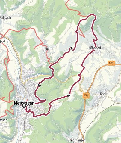 Karte / Rund um Meiningen - Wandertag auf Schaubachs Spuren