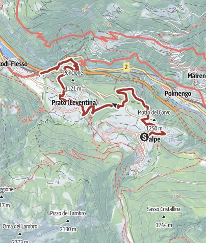 Map / Percorso del Monte Piottino