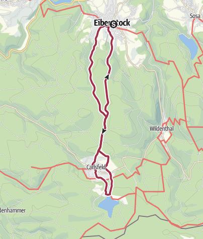"""Karte / """"Zu Besuch im Sapperland"""" (Eibenstock - Carlsfeld und zurück)"""