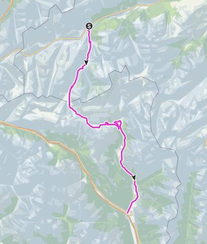 Map / Lukmanierpass: Disentis - Biasca