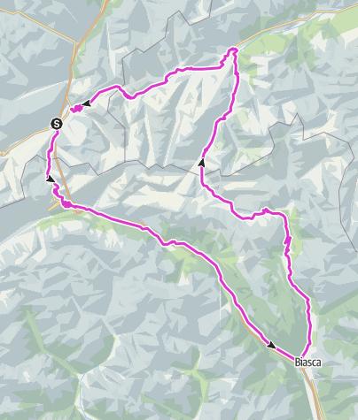 Karte / Dreipässefahrt: Gotthard - Lukmanier - Oberalp