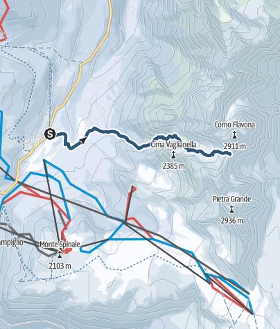 Cartina / Scialpinismo in Val Gelada